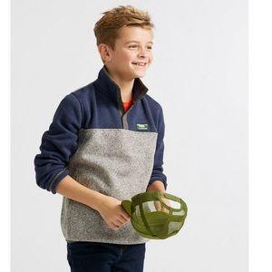 L.L.Bean kids Sweater Fleece Pullover, Colorblock